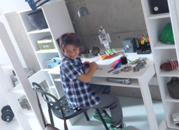 loftsäng med skrivbord
