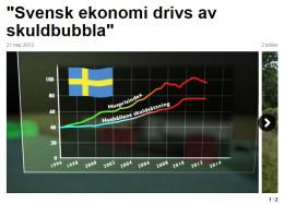 Svensk skuldbubbla